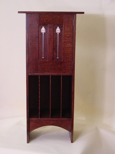 Gustav Stickley Harvey Ellis Inspired Inlaid Music cabinet